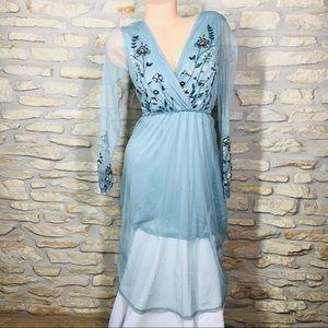 XS Xhilaration Floral Long Sleeve Dress